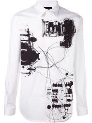рубашка с абстрактным принтом Diesel Black Gold