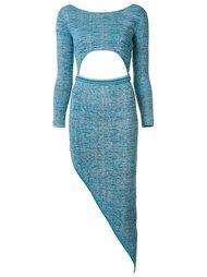 asymmetric cut-out dress Baja East