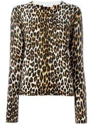 свитер с леопардовым принтом Equipment