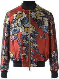куртка-бомбер с цветочным принтом   Dsquared2