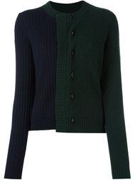 двухцветный свитер в рубчик Maison Margiela