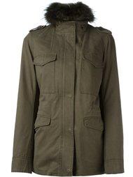 куртка со съемным меховым воротником Yves Salomon