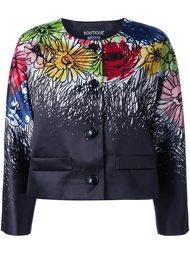 куртка с цветочным принтом   Boutique Moschino
