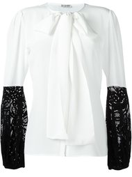 блузка с завязками на горловине Emanuel Ungaro
