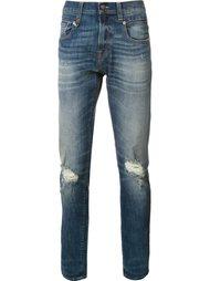 рваные узкие джинсы R13