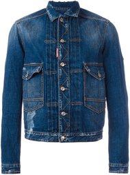 джинсовая куртка 'Tokyo Metro Flower' Dsquared2