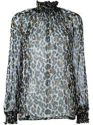 блузка с высоким воротником 'leopard' Marco Bologna