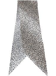 платок с леопардовым принтом Saint Laurent