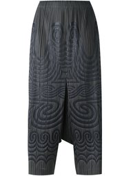 брюки с принтом 'Mon'  Pleats Please By Issey Miyake