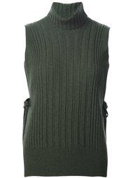 свитер без рукавов в рубчик Maison Margiela