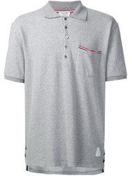 футболка-поло с накладным карманом Thom Browne