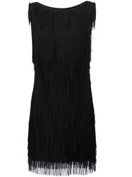 fringed dress Nicole Miller