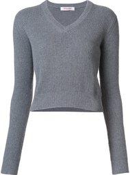 укороченный свитер с V-образным вырезом Organic By John Patrick