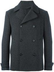короткое двубортное пальто Z Zegna