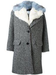пальто с меховой отделкой Carven