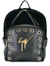 рюкзак с бархатной отделкой и люверсами Giuseppe Zanotti Design