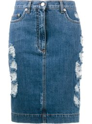 джинсовая юбка Moschino