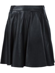 кожаная юбка мини Jeremy Scott