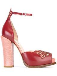 босоножки на массивном каблуке  Fendi