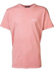 футболка с принтом логотипа  Obey