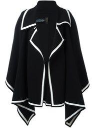 пальто с контрастной окантовкой  Burberry Runway
