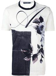 футболка с комбинированным принтом Dolce & Gabbana