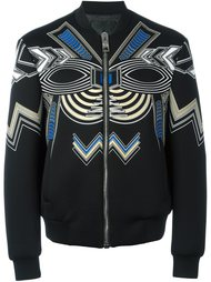 куртка-бомбер с орнаментом Les Hommes
