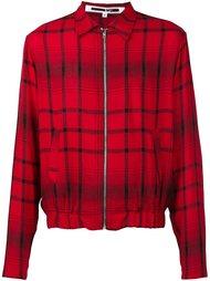 куртка-бомбер в клетку  McQ Alexander McQueen