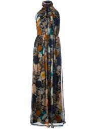 длинное платье с цветочным принтом Raquel Allegra