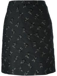 юбка с цветочной вышивкой Lanvin