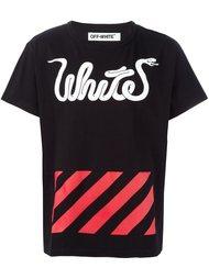 футболка с комбинированным принтом Off-White