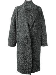 объемное пальто в елочку Dusan