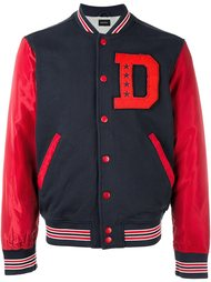 куртка-бомбер с контрастными рукавами Diesel