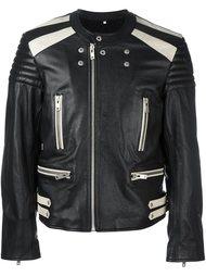 двухцветная байкерская куртка Maison Margiela