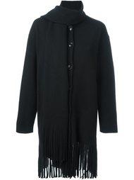 куртка с бахромой и элементом шарфа Boutique Moschino