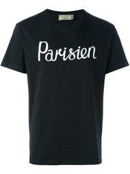 футболка с принтом 'Parisien' Maison Kitsuné