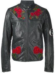байкерская куртка с нашивками  Dolce & Gabbana