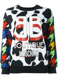 толстовка с принтом логотипа Boutique Moschino