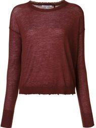 свитер с необработанными краями  Helmut Lang