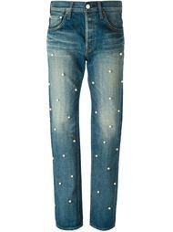 украшенные жемчугом джинсы бойфренд  Tu Es Mon Tresor