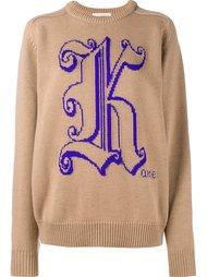 свитер с логотипом  Christopher Kane