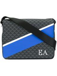 сумка-почтальонка дизайна колор-блок Emporio Armani
