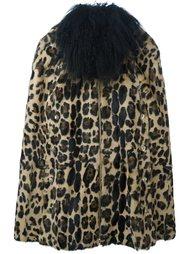 шуба с леопардовым принтом Sonia Rykiel