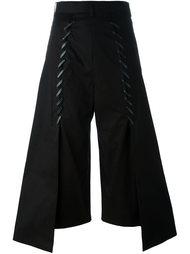укороченные расклешенные брюки Comme Des Garçons Noir Kei Ninomiya