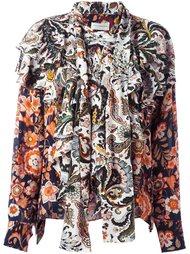 floral print ruffle shirt Faith Connexion