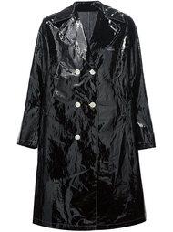 двубортное пальто с заостренными лацканами Undercover