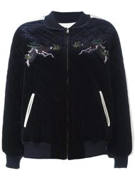 embroidered quilted bomber jacket Steve J & Yoni P