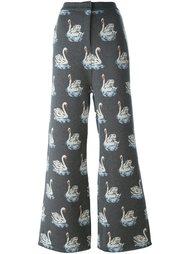 брюки с принтом лебедей Stella McCartney