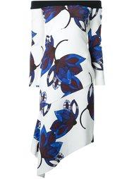 платье с открытыми плечами и цветочным узором Manning Cartell
