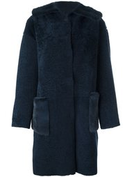 fur-trimmed shearling coat Manzoni 24